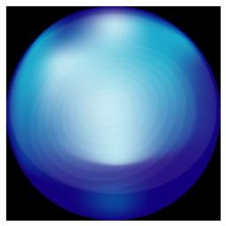青色を基調としたガラス玉のワンポイントイラスト画像