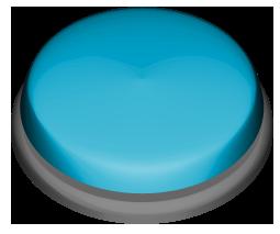 青色の押しボタンのワンポイントイラスト画像
