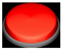 赤色の押しボタンのワンポイントイラスト画像