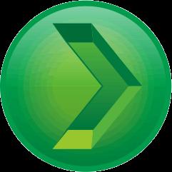 深緑色の彫り込み矢印アイコン画像