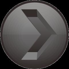 黒色の彫り込み矢印アイコン画像