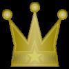 金色の王冠のワンポイントイラスト画像