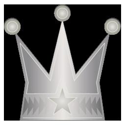 銀色の王冠のワンポイントイラスト画像