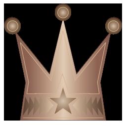 銅色の王冠のワンポイントイラスト画像