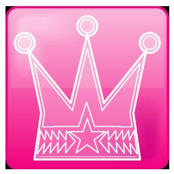 ピンク色ベースの王冠のワンポイントイラスト画像