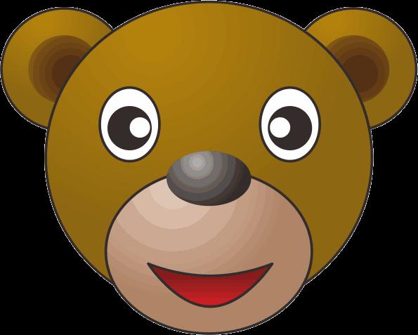 茶色いクマのキャラクターイラスト画像