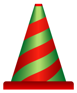 赤緑縞模様のパイロンのワンポイントイラスト画像