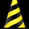 トラ縞模様のパイロンのワンポイントイラスト画像