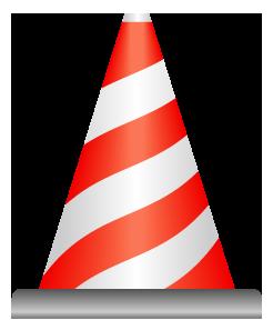 赤白縞模様のパイロンのワンポイントイラスト画像