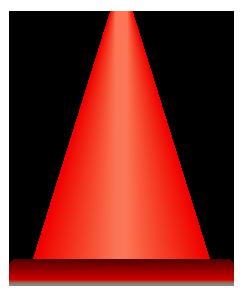 赤色のパイロンのワンポイントイラスト画像