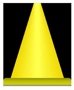 黄色のパイロンのワンポイントイラスト画像