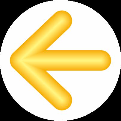 黄色立体矢印アイコン画像