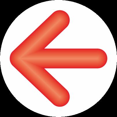 赤色立体矢印アイコン画像