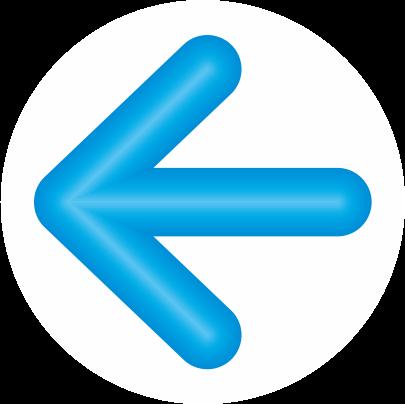 青色立体矢印アイコン画像