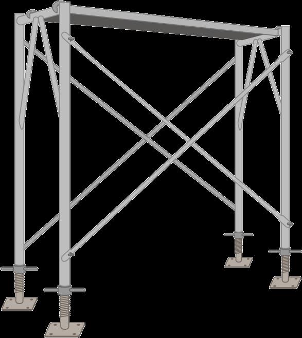 ビティと呼ばれている建設用組立式足場のイラスト