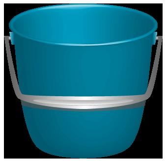 青いバケツのイラスト