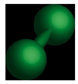 重そうな緑色の鉄アレイのイラスト