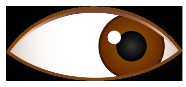 右側を見ている目のワンポイントイラスト