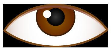 上側を見ている目のワンポイントイラスト