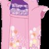 正月に晴れ着を着ている若い女性のイラスト