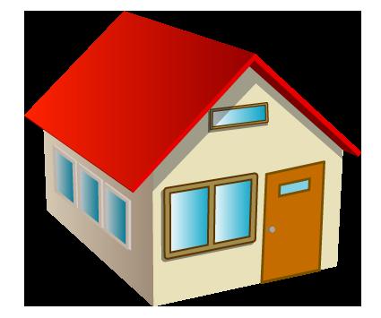 立体的な家のワンポイントイラスト画像