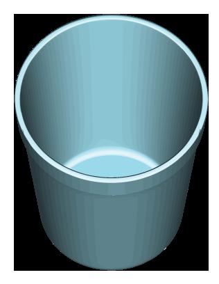 青系色の円筒形ゴミ入れのイラスト