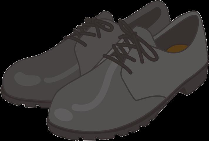 短靴タイプの安全靴のイラスト画像