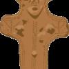 まつ毛の長いハンサムな板状土偶のイラスト