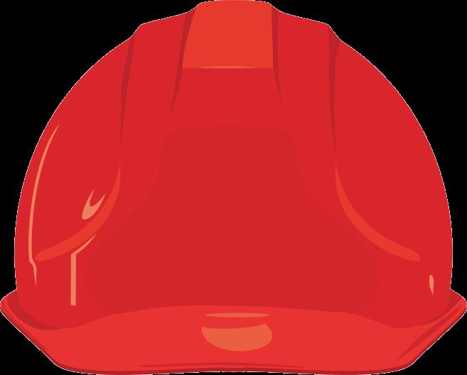 工事現場で装着するカッコいい安全ヘルメットのイラスト