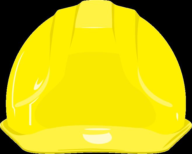 黄色い安全ヘルメットのイラスト