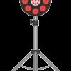 注意力を喚起する道路工事警告灯のイラスト
