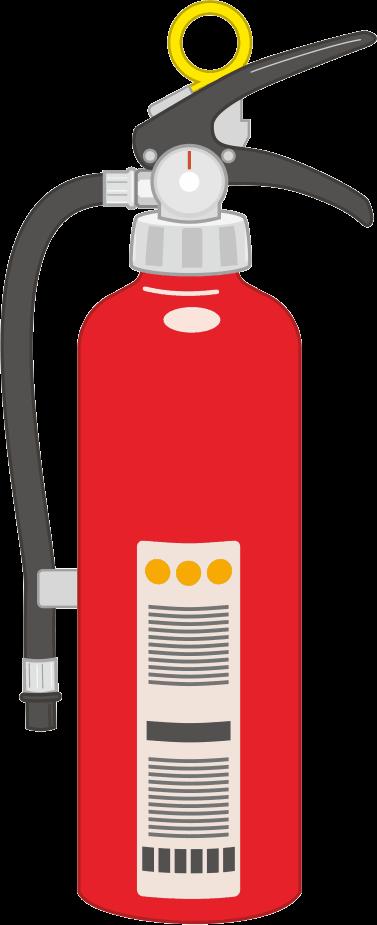 火災予防に役立つ消火器のイラスト