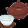 急須とお茶の入った湯呑のイラスト