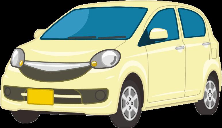 低燃費で経済的な軽自動車のイラスト